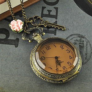 Vintage Style Pocket Watch Necklace - women's accessories