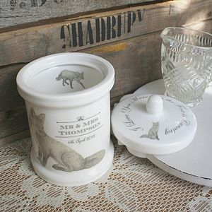 Personalised Ceramic Jar With Fox Design