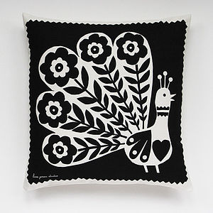 Pablo Peacock Cushion Cover - soft furnishings & accessories