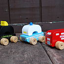 Set Of Three London Vehicle Toys