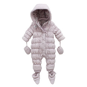 French Design Down Filled Baby Snowsuit - clothing