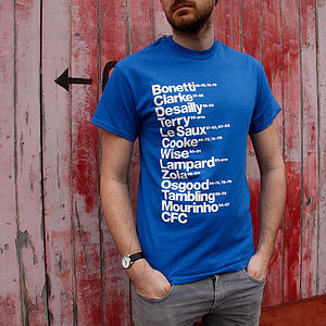 Best Chelsea Football Players T Shirt