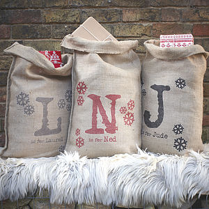 Personalised Christmas Sack - our favourite stockings & sacks