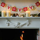 Reindeers And Snowflakes Wooden Bunting