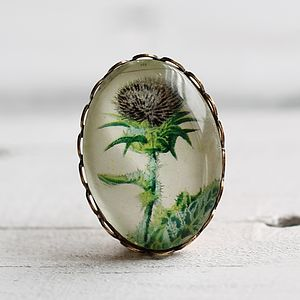 Thistle Brooch - women's jewellery