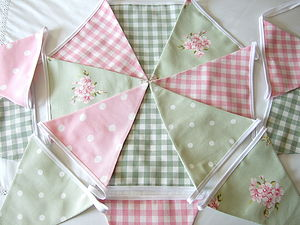 Green Bunting - Various Designs - room decorations