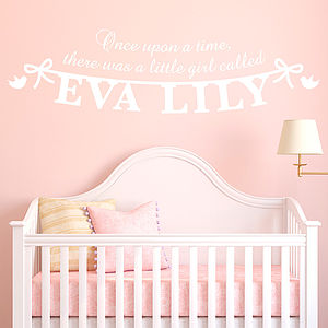 Personalised Girl's Name Wall Sticker - pictures, prints & paintings