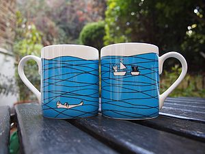 Hidden Message Fine Bone China Mug - mugs