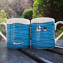Thumb fine bone china mug blue