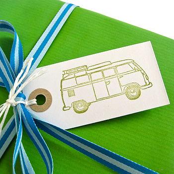 Set Of Five Vintage Campervan Gift Tags