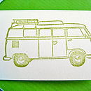 Set Of Five Vintage Campervan Gift Tags