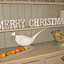 Merry Christmas Wooden Words Decoration
