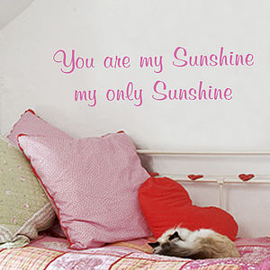 'You Are My Sunshine' Wall Sticker - wall stickers