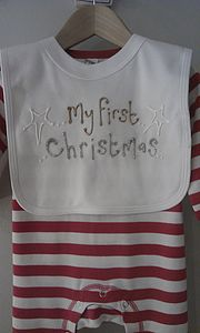 My First Christmas Bib - baby care