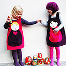 Personalised Russian Doll Girls Dress