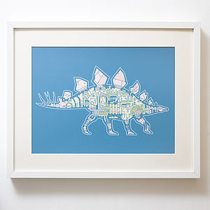 Mechanical Stegosaurus Print - canvas prints & art for children