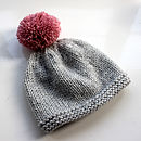 Soft grey and dusky pink pompom