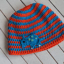 Dinosaur Striped Crochet Hat