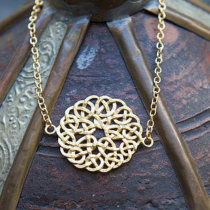 Filigree Circle Charm Gold Chain Friendship Bracelet - women's jewellery