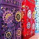 Set Of Five Nesting Kashmiri Storage Tins