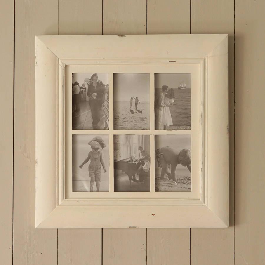 cream six picture multi frame - Multi Picture Photo Frames