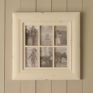 Cream Six Picture Multi Frame