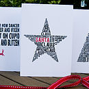 Mixed Pack Of 24 Typographic Christmas Cards