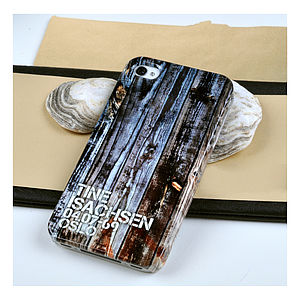 Personalised Wooden Board Case For iPhone - mens