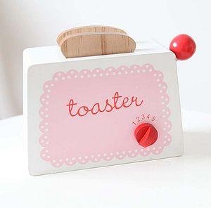 Wooden Pop-Up Toaster - pretend play & dressing up