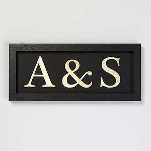 Personalised Gold Leaf Initials - gifts for couples