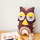 Owl Soft Toy Tea Towel Kit
