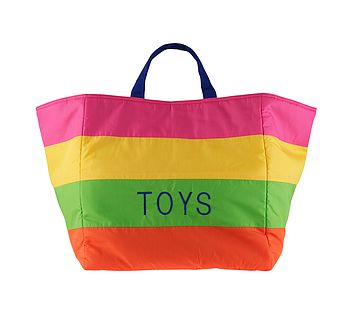 Striped Toy Bag