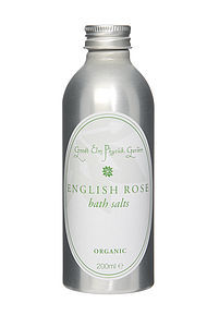 English Rose Organic Bath Salts - washing & bathing