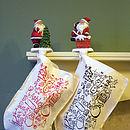 Personalised Christmas Stocking To Colour In