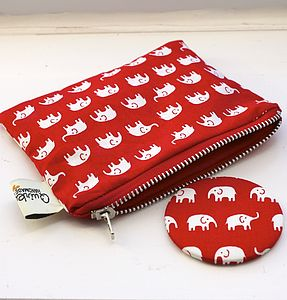 Compact Mirror And Purse Set - make-up bags