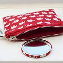 Compact Mirror And Purse Set
