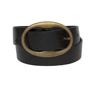 Women's Oval Buckle Belt - belts