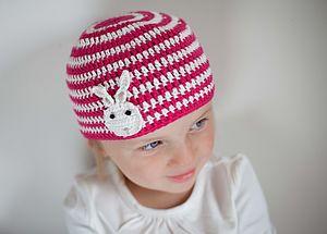 Rabbit Striped Crochet Hat - babies' hats