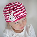Rabbit Striped Crochet Hat