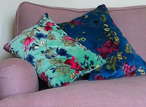 Cotton Velvet Cushions - cushions