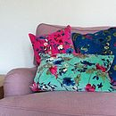 Cotton Velvet Floral Cushions