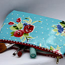 Vintage Inspired Oilcloth Cosmetic Bag