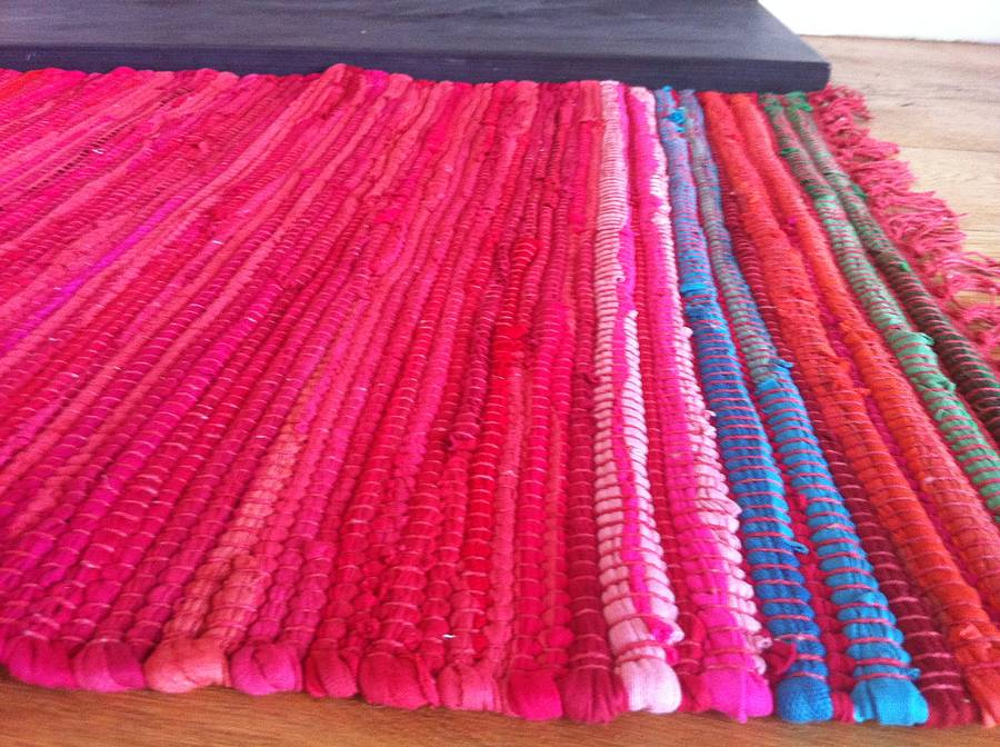 Vibrant Rag Rug By The Forest Co Notonthehighstreetcom