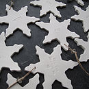 Personalised Porcecelain Snowflake Decoration