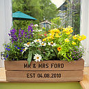 Personalised Window Box Planter Crate