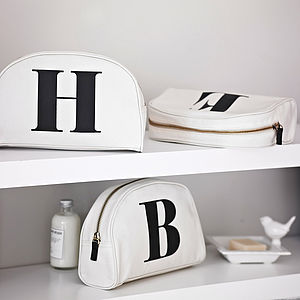 Initial Wash Bag - gifts under £25 for her
