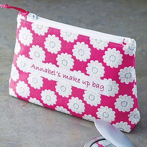 Personalised Daisy Cosmetic Bag - gifts under £25
