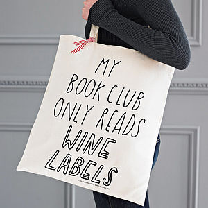 Silly Slogan Tote Bag - book-lover