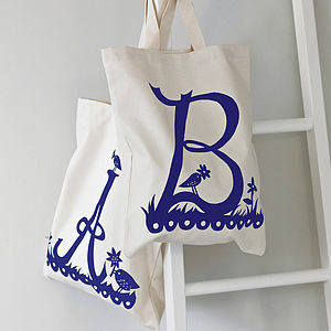 Rob Ryan For Alphabet Bags Initial Tote Bag - shopper bags