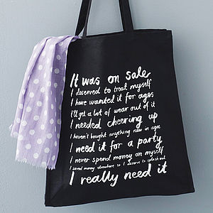'It Was On Sale' Canvas Tote Bag - best gifts for best friends